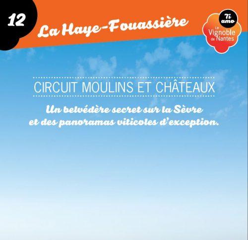 Moulins et Châteaux in la Haye Fouassière circuit card