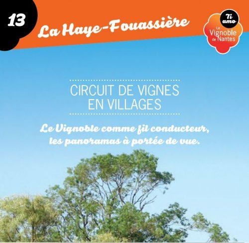 De Vignes en Villages in la Haye Fouassière circuit card